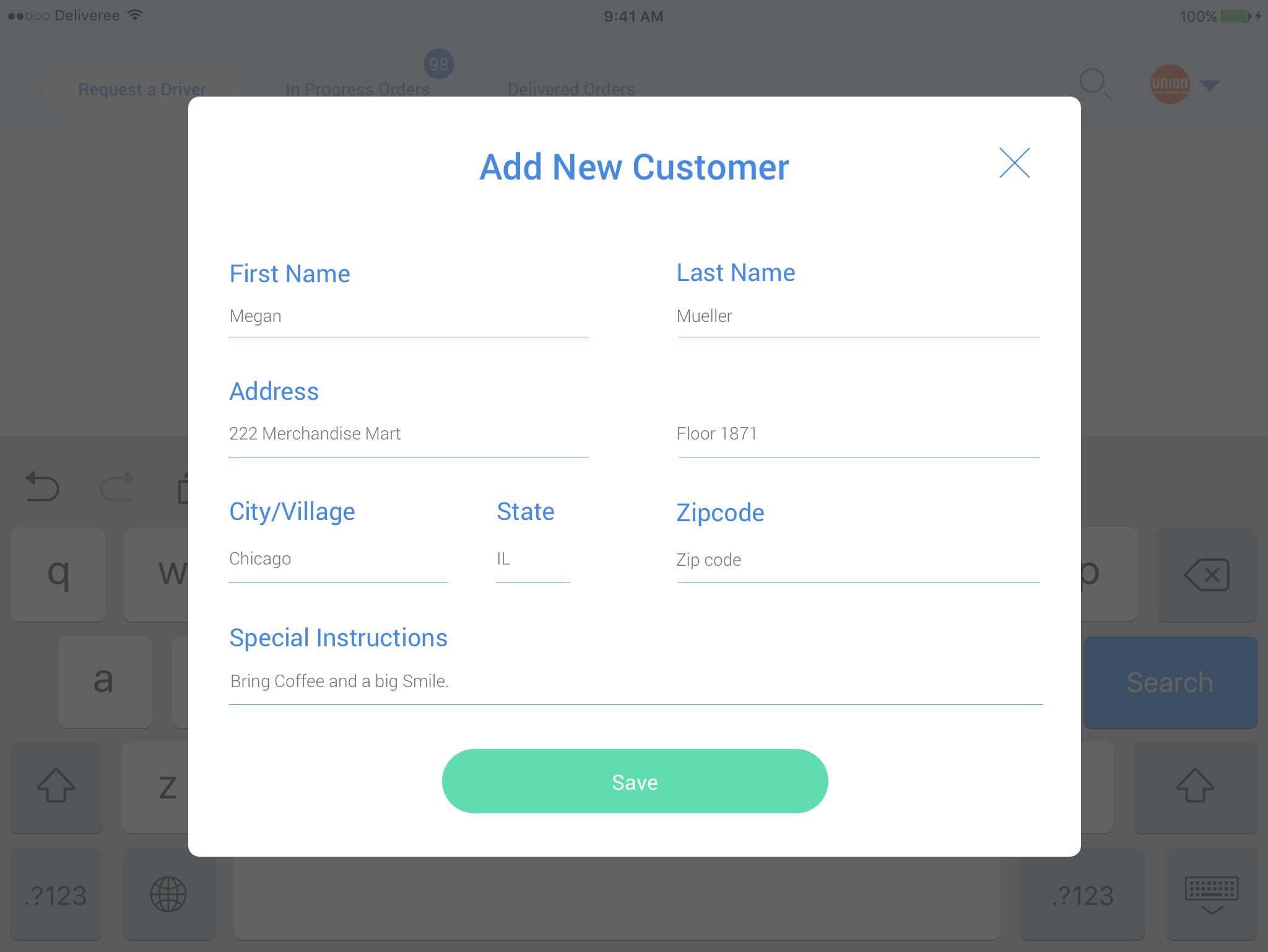 Add New Customer