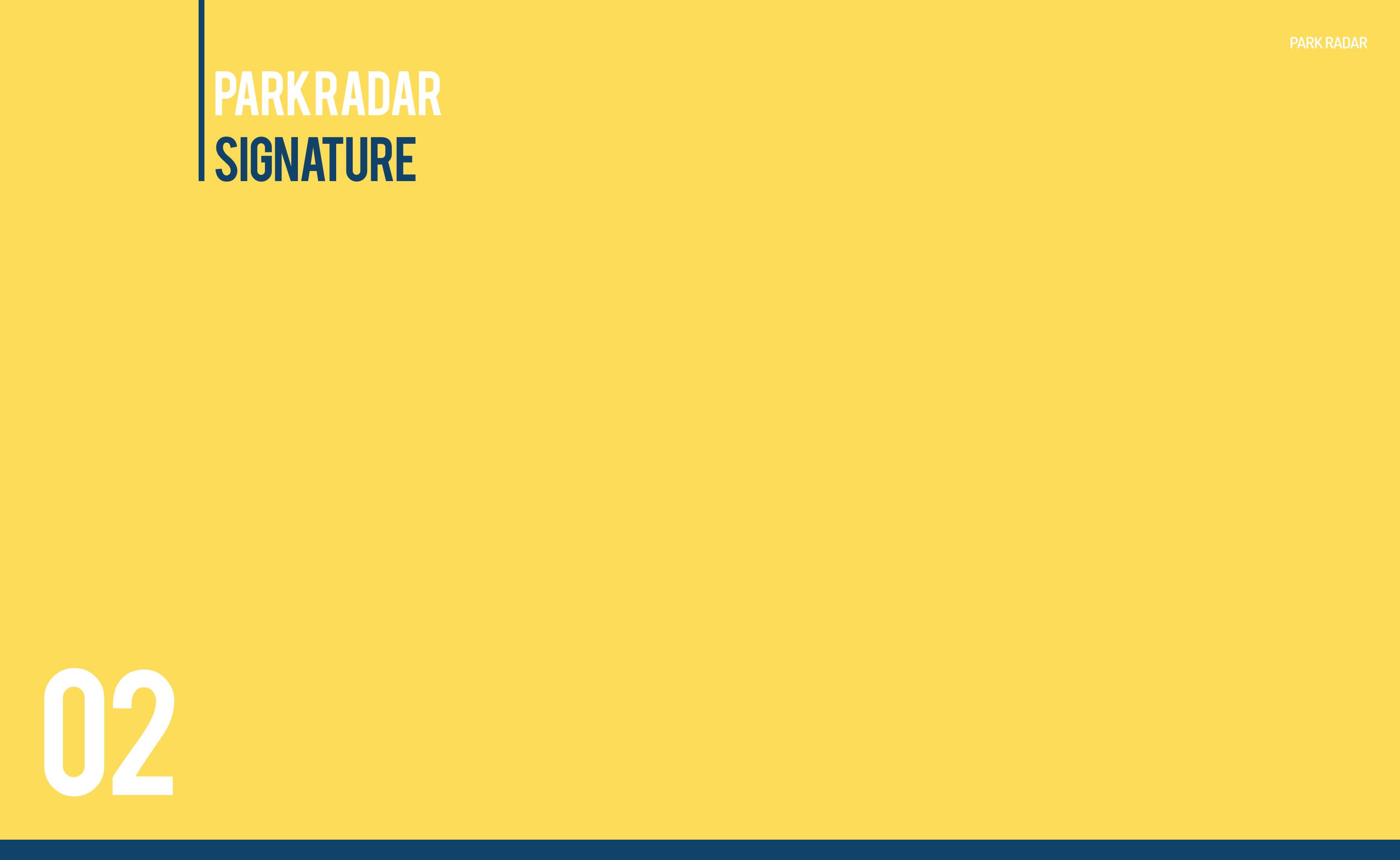 Park Radar Signature